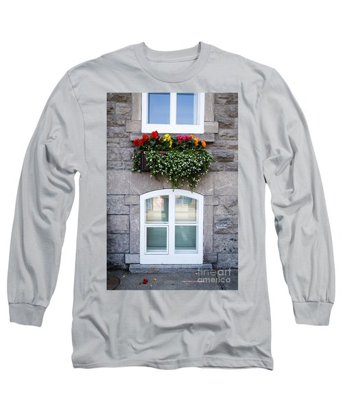 Flower Box Old Quebec City Long Sleeve T-Shirt