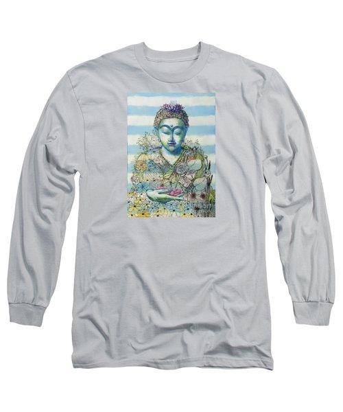 Flower Garden Buddha Long Sleeve T-Shirt