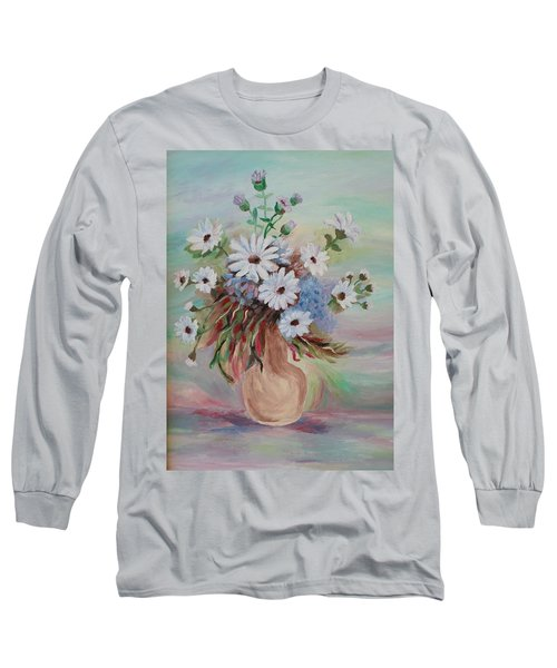 Flowers For Mom Long Sleeve T-Shirt by Christy Saunders Church