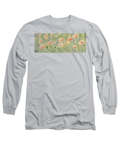 Long Sleeve T-Shirt featuring the painting California Poppies by Maria Langgle