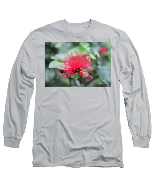 Long Sleeve T-Shirt featuring the photograph Fluffy Pink Flower by Sergey Lukashin
