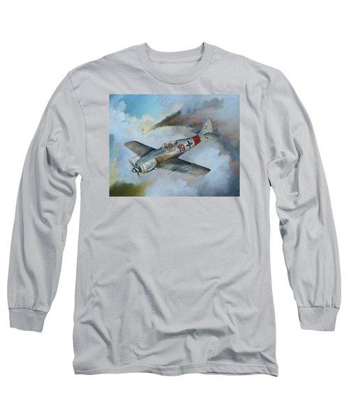 Focke Wulf Fw-190 Long Sleeve T-Shirt by Stuart Swartz