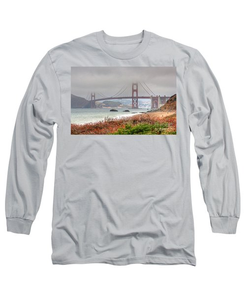 Foggy Bridge Long Sleeve T-Shirt by Kate Brown