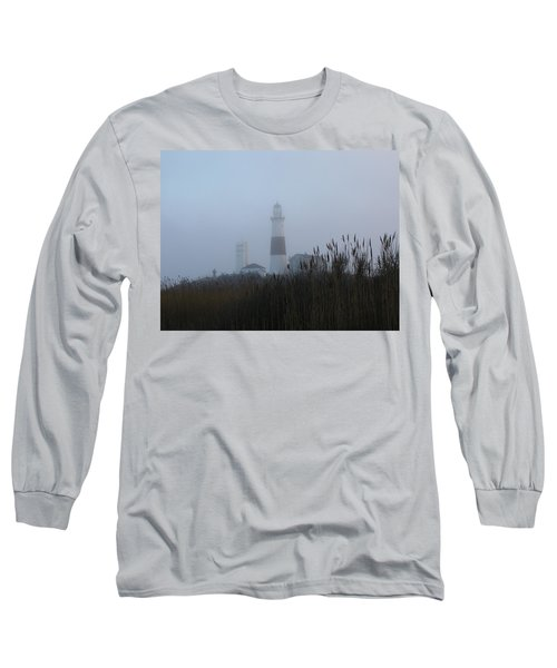 Foggy Montauk Lighthouse Long Sleeve T-Shirt