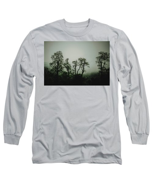 Long Sleeve T-Shirt featuring the photograph Foggy Mountain Morning At The Meadows Of Dan by John Haldane