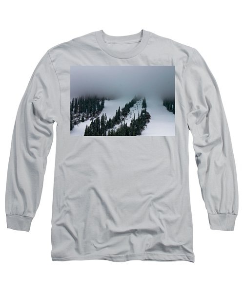 Long Sleeve T-Shirt featuring the photograph Foggy Ski Resort by Eti Reid