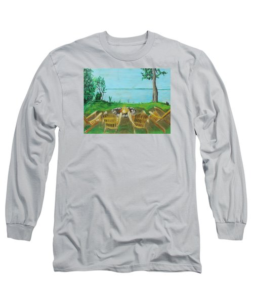 Long Sleeve T-Shirt featuring the painting Four Chairs by Jeanne Fischer