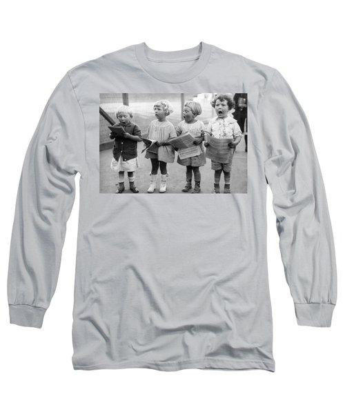 Four Young Children Singing Long Sleeve T-Shirt
