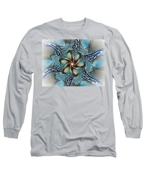 Fractal Composition In Art Deco Style Long Sleeve T-Shirt