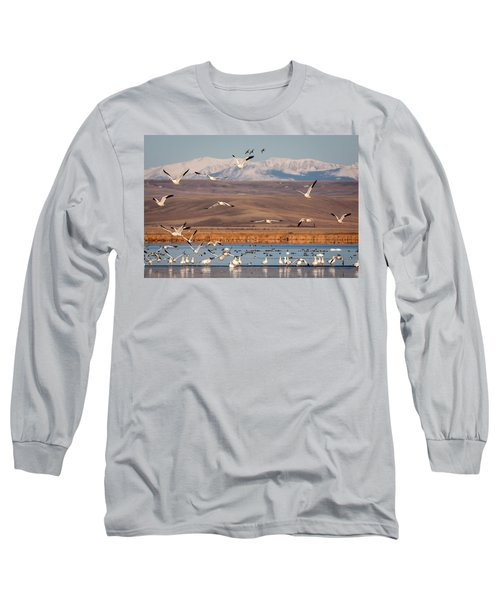 Long Sleeve T-Shirt featuring the photograph Freeze Out Lake Morning by Jack Bell