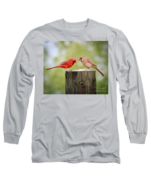 Friends In The Rain  Long Sleeve T-Shirt by Kerri Farley