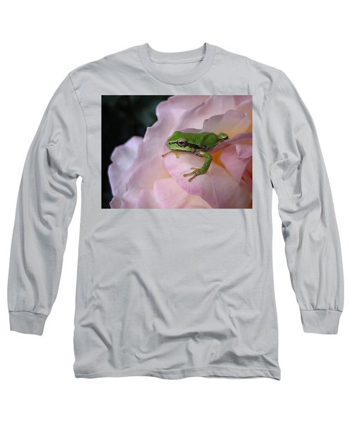 Frog And Rose Photo 3 Long Sleeve T-Shirt