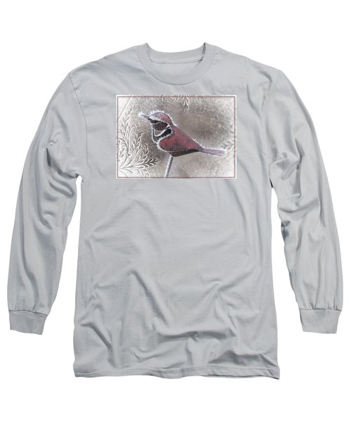 Frosty Cardinal Long Sleeve T-Shirt by Patti Deters