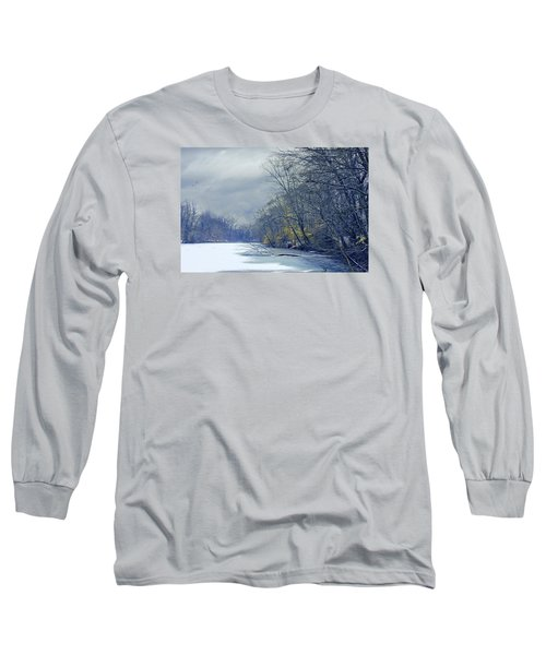 Frozen Pond Long Sleeve T-Shirt by John Rivera