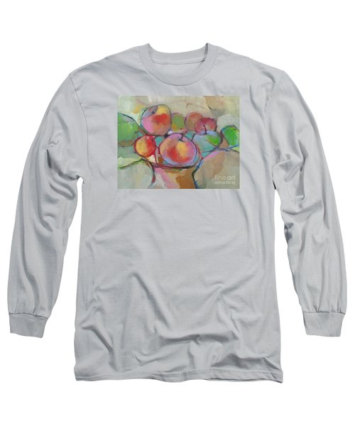 Long Sleeve T-Shirt featuring the painting Fruit Bowl #5 by Michelle Abrams