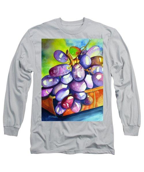 Purple Grapes Long Sleeve T-Shirt