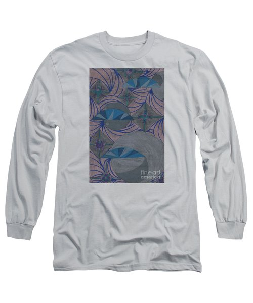 Long Sleeve T-Shirt featuring the drawing Galactic by Kim Sy Ok