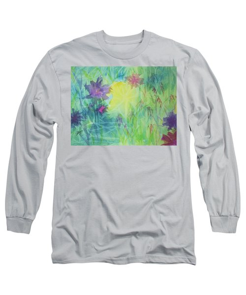 Garden Vortex Long Sleeve T-Shirt by Ellen Levinson