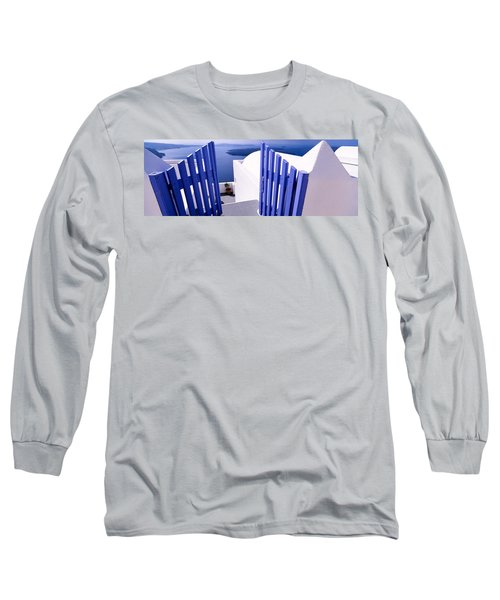 Gate At The Terrace Of A House Long Sleeve T-Shirt