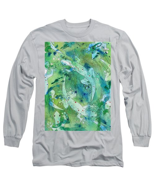 Geckos At Play Long Sleeve T-Shirt