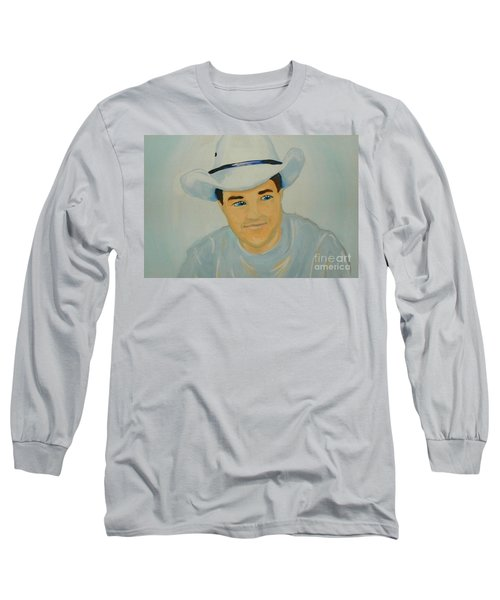 Long Sleeve T-Shirt featuring the painting George by Marisela Mungia