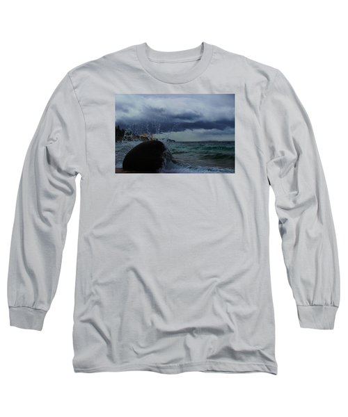 Long Sleeve T-Shirt featuring the photograph Get Splashed by Sean Sarsfield