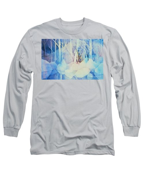 Long Sleeve T-Shirt featuring the painting Ghost Forest by Teresa Ascone