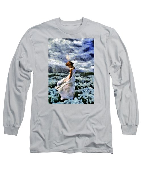 Girl In A Cotton Field Long Sleeve T-Shirt