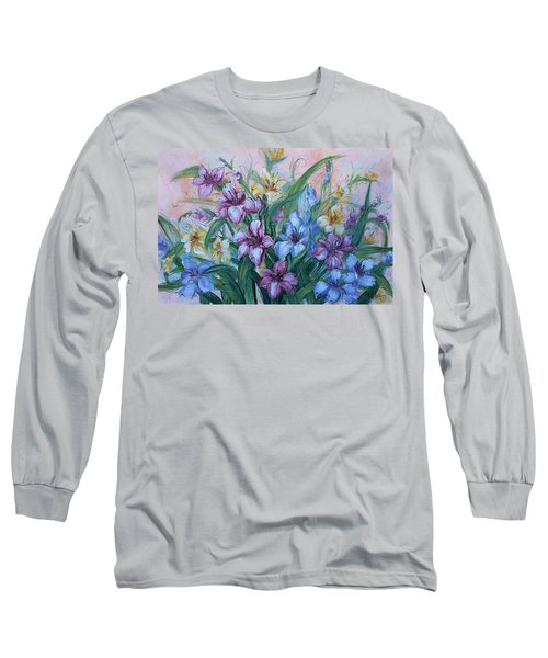 Gladiolus Long Sleeve T-Shirt by Natalie Holland