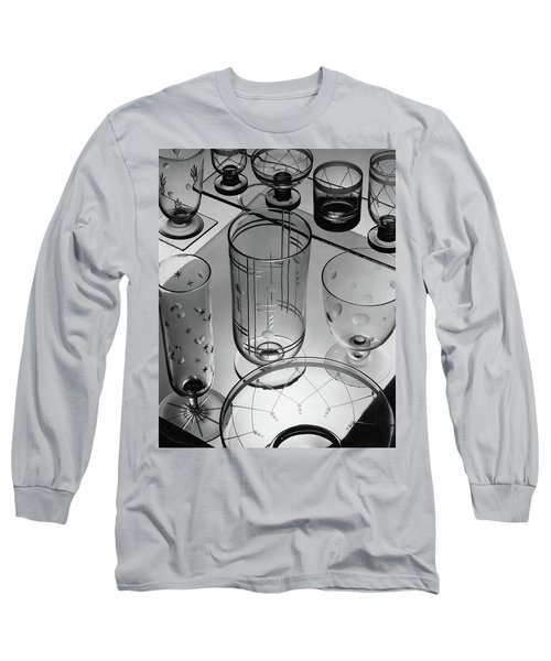 Glasses And Crystal Vases By Walter D Teague Long Sleeve T-Shirt