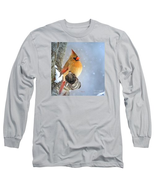 Glowing In The Snow Long Sleeve T-Shirt by Nava Thompson