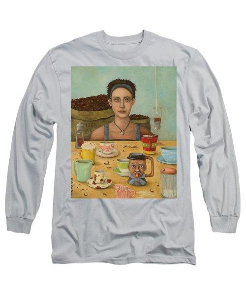 Goddess Of Coffee Long Sleeve T-Shirt