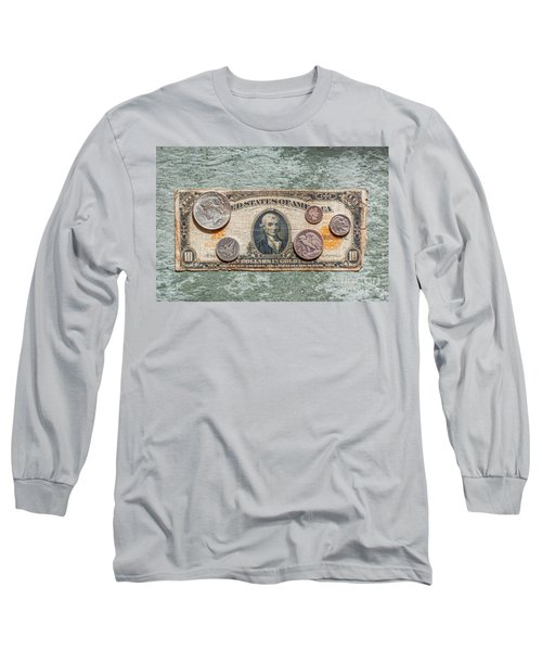 Gold Certificate And Silver Coins Ver 1 Long Sleeve T-Shirt