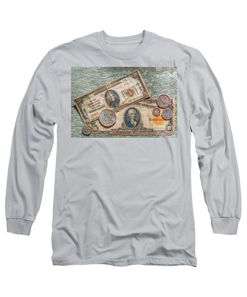 Gold Certificate And Silver Coins Ver 2 Long Sleeve T-Shirt