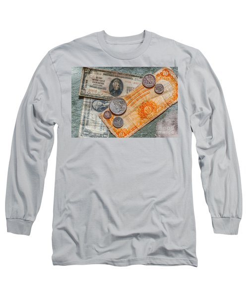 Gold Certificate And Silver Coins Ver 3 Long Sleeve T-Shirt