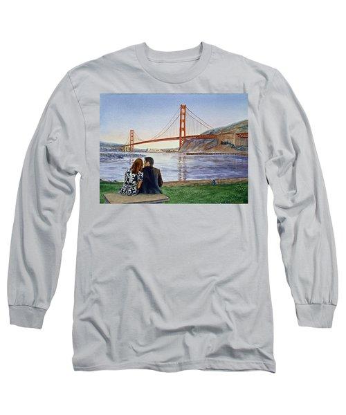Golden Gate Bridge San Francisco - Two Love Birds Long Sleeve T-Shirt