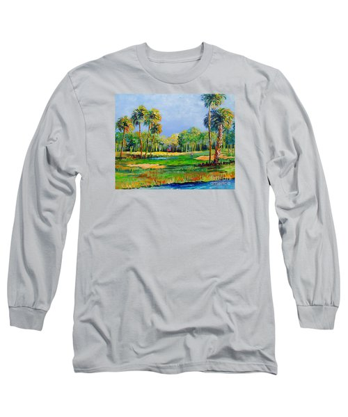 Long Sleeve T-Shirt featuring the painting Golf In The Tropics by Lou Ann Bagnall
