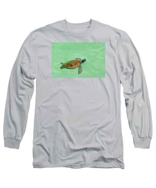 Long Sleeve T-Shirt featuring the photograph Good Day For A Swim  by Susan  McMenamin