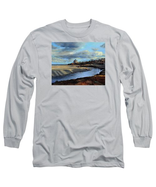 Good Harbor Beach Gloucester Long Sleeve T-Shirt by Eileen Patten Oliver
