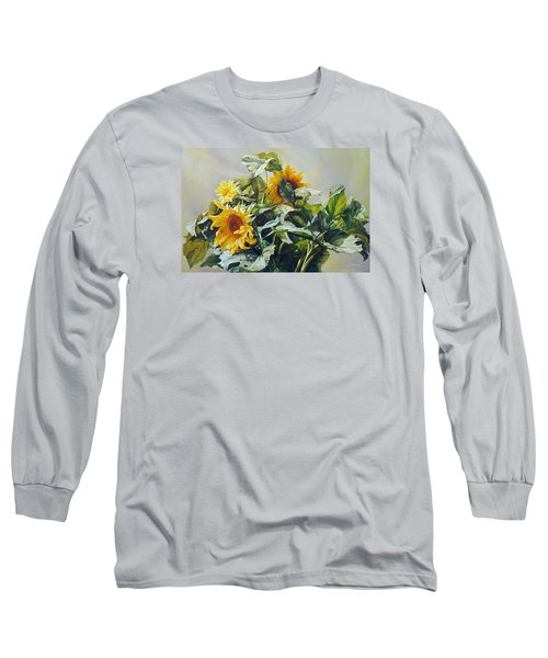 Good Morning - Sunflower In Love Long Sleeve T-Shirt