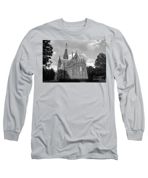 Long Sleeve T-Shirt featuring the photograph Gothic Church In Black And White by John Telfer