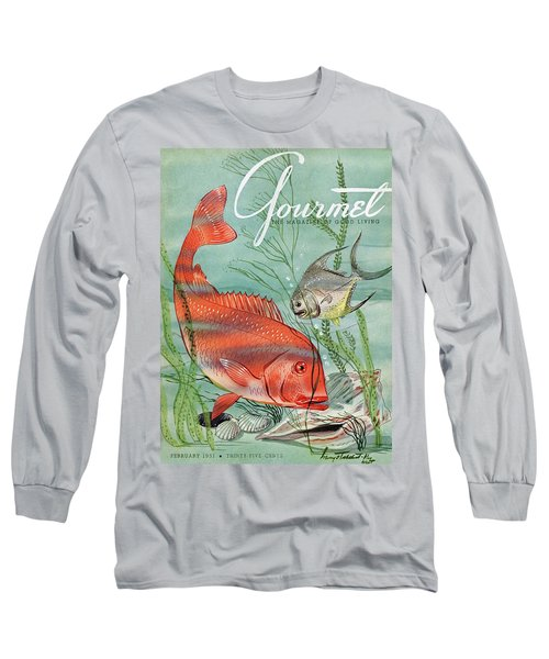 Gourmet Cover Featuring A Snapper And Pompano Long Sleeve T-Shirt