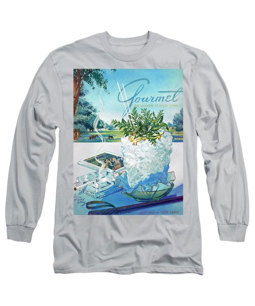 Gourmet Cover Illustration Of Mint Julep Packed Long Sleeve T-Shirt