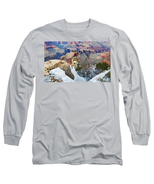 Long Sleeve T-Shirt featuring the photograph Grand Canyon In February by Mae Wertz