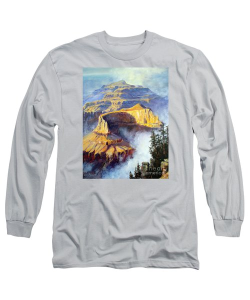Grand Canyon View Long Sleeve T-Shirt by Lee Piper