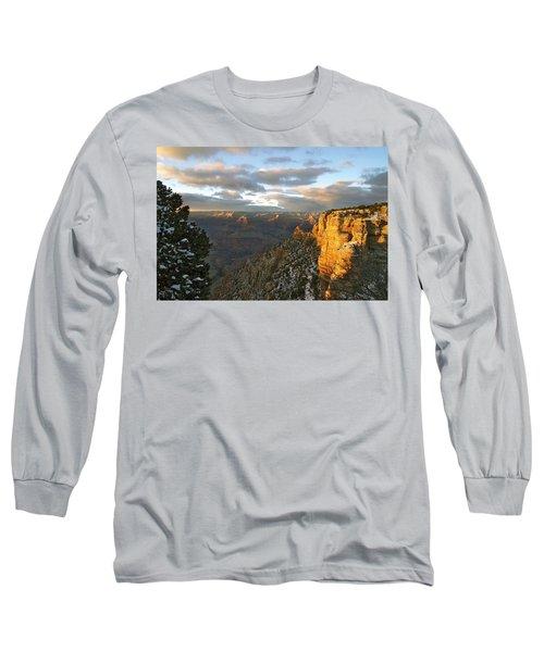 Grand Canyon. Winter Sunset Long Sleeve T-Shirt by Ben and Raisa Gertsberg