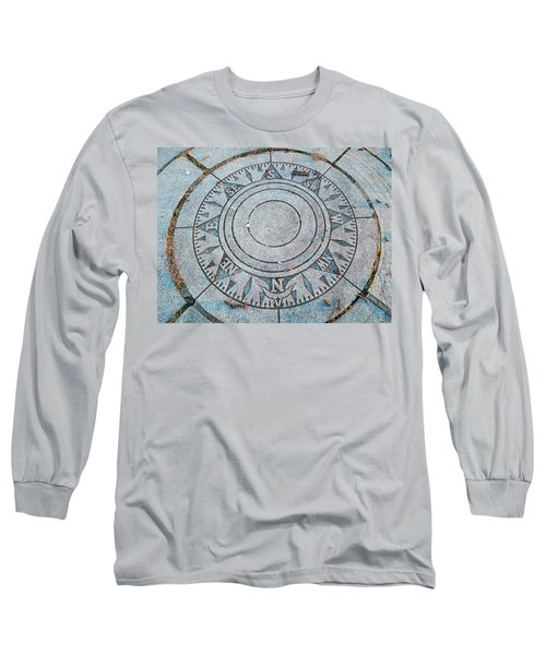 Long Sleeve T-Shirt featuring the photograph Granite Compass by Barbara McDevitt