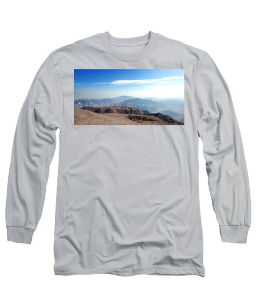 Long Sleeve T-Shirt featuring the photograph Great Wall Of China - Mutianyu by Yew Kwang