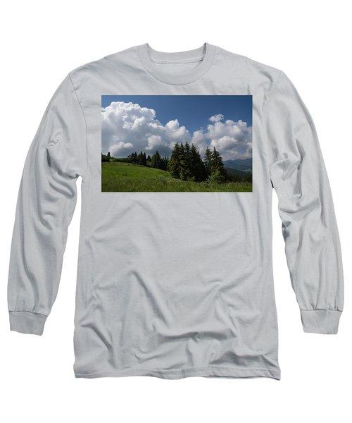 Long Sleeve T-Shirt featuring the photograph Green Ball Gowns  by Georgia Mizuleva