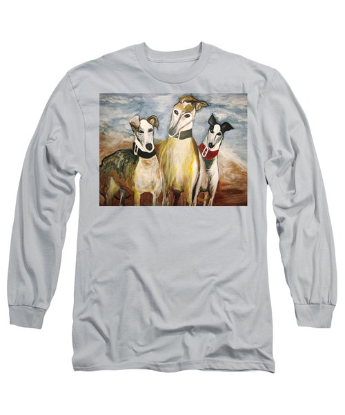 Greyhounds Long Sleeve T-Shirt by Leslie Manley